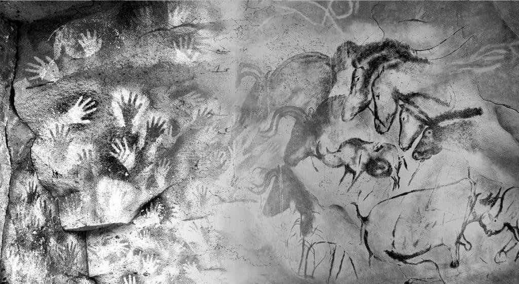 Cave paintings at Chauvet-Pont-d'Arc
