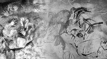 Cave paintings at Chauvet-Pont-d'Arc