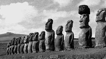 Mo'ai Heads, Easter Island